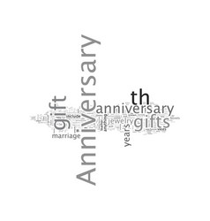 anniversary gift guide vector image