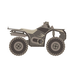 Atv side view isolated icon off-road motorcycles vector