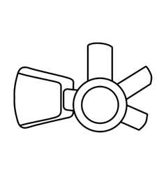 Augmented reality glasses icon vector