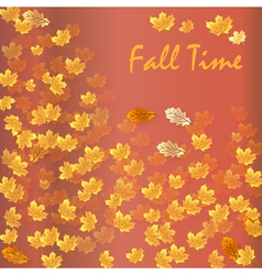 Autumn time seasonal banner vector