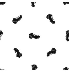 Baseball cleat pattern seamless black vector