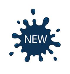 blue splash new labels business painted vector image
