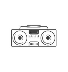 boombox logotype vector image