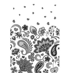border indian floral paisley patten seamless vector image