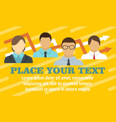 business meeting team concept banner flat style vector image