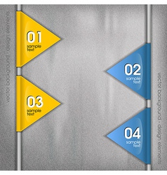 business triangles blue yellow side with text vector image