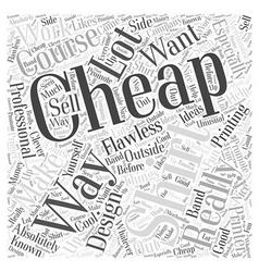 cheap t shirt Word Cloud Concept vector image