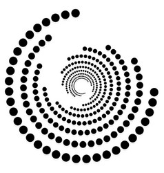 Circular dotted shape motif spiral twirl element vector