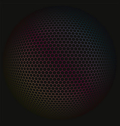 colored spherical polygon 3d background pattern vector image