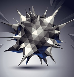 Complicated 3d figure modern digital technology vector