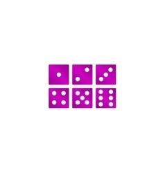 dice icon Flat design style vector image