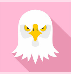 eagle head icon flat style vector image