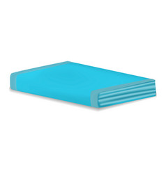 folded towel mockup realistic style vector image