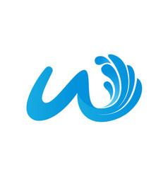 Fresh water splash mineral water logo design icon vector