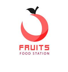 fruits food station apple background image vector image
