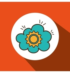 Gear wheel cog cloud vector