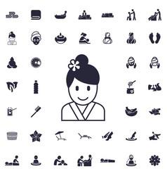 Geisha icon vector