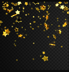 golden star confetti vector image