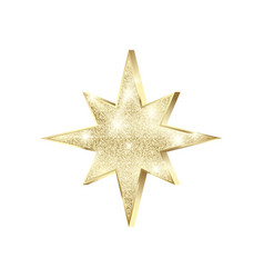 golden star with glitters shiny christmas vector image