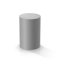 Grey cylinder vector