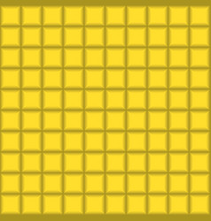 grey squares mosaic tile on yellow background vector image