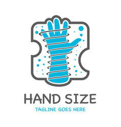 hand size logo vector image