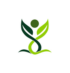 health life organic vector image