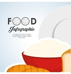 Healthy food design infographic icon menu vector