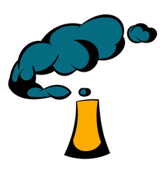 industrial smoke from chimney icon icon cartoon vector image