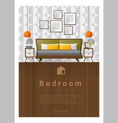 Interior design Modern bedroom banner 5 vector image