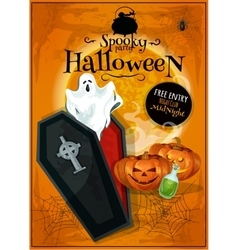 invitation placard to spooky halloween party vector image