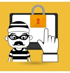 laptop virus safe security vector image