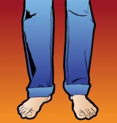 legs men vector image