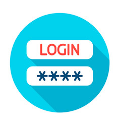 login password circle icon vector image