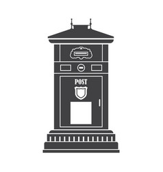 mail box outline icon vector image