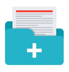 Medical files icon vector