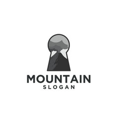 mountain and key logo designs vector image
