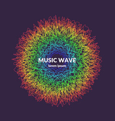 Music poster background with dynamic waves vector