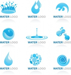 nature logos 03 water theme vector image vector image
