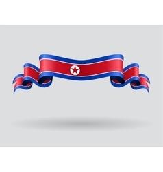 North Korean wavy flag vector
