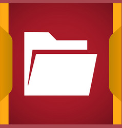 Open folder icon vector