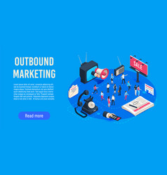 outbound marketing isometric business market vector image