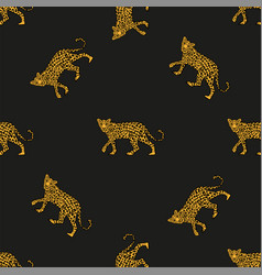 pattern leopards vector image