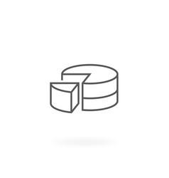 Pie graph icon vector