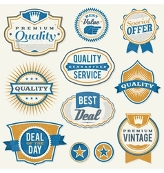 Retro vintage retail labels vector