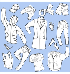 seamless background man clothes vector image