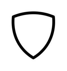 Shield icon symbol of security safety and vector