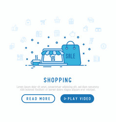 shopping e-commerce concept vector image
