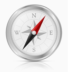 Silver Vintage Compass vector image