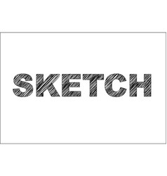 Sketch scribble text vector